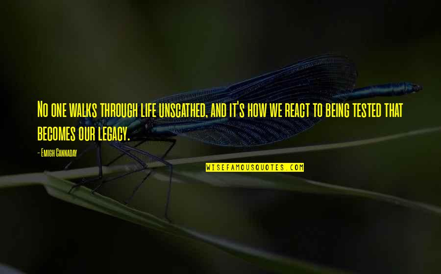 Being Tested In Life Quotes By Emigh Cannaday: No one walks through life unscathed, and it's