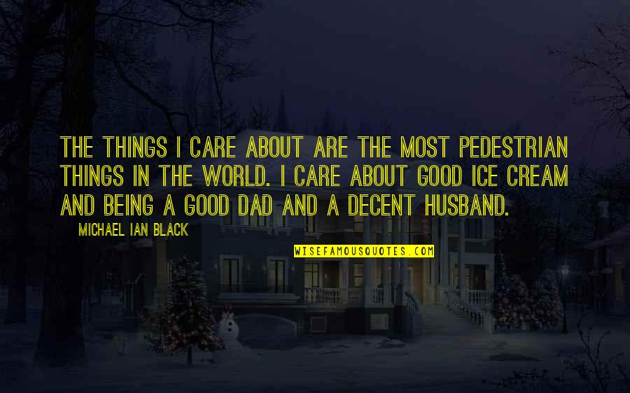 Being The Best Dad Quotes By Michael Ian Black: The things I care about are the most
