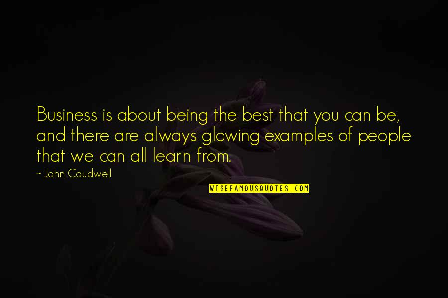 Being The Best We Can Be Quotes By John Caudwell: Business is about being the best that you