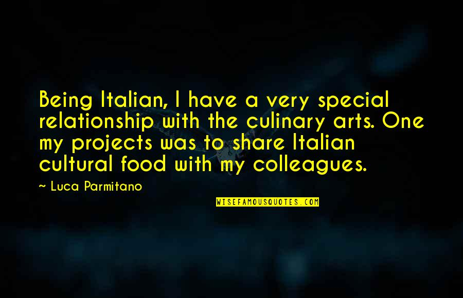 Being The Only One In A Relationship Quotes By Luca Parmitano: Being Italian, I have a very special relationship