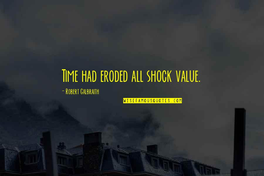 Being Tough In Sports Quotes By Robert Galbraith: Time had eroded all shock value.