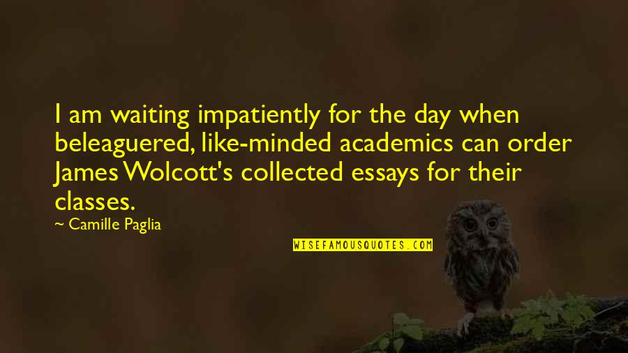 Beleaguered Quotes By Camille Paglia: I am waiting impatiently for the day when