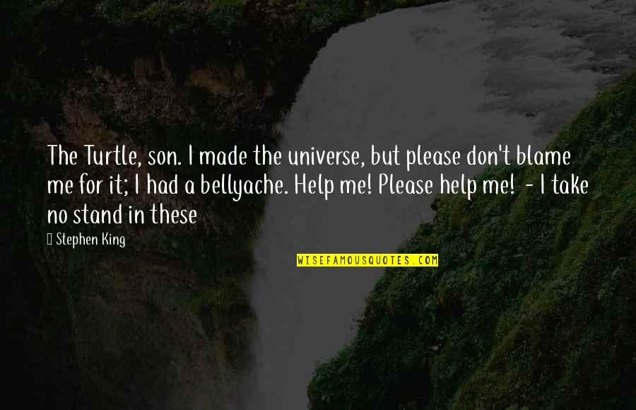 Bellyache Quotes By Stephen King: The Turtle, son. I made the universe, but