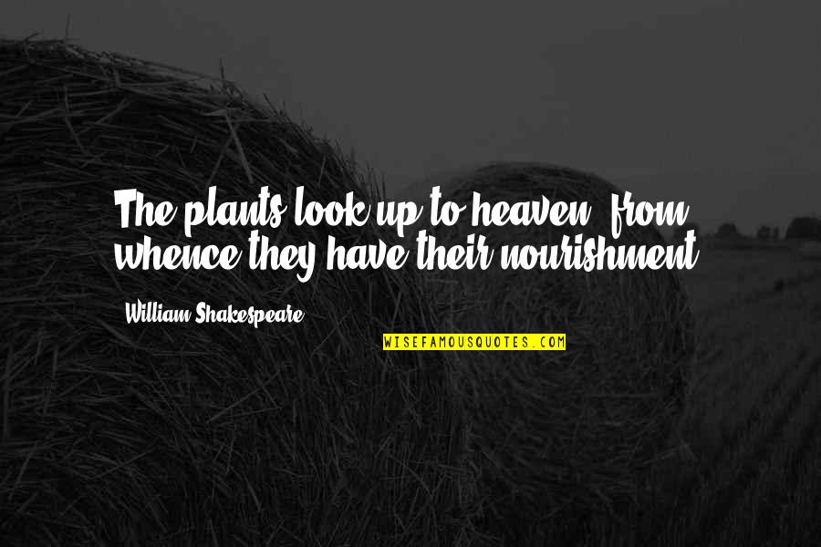 Bellyache Quotes By William Shakespeare: The plants look up to heaven, from whence