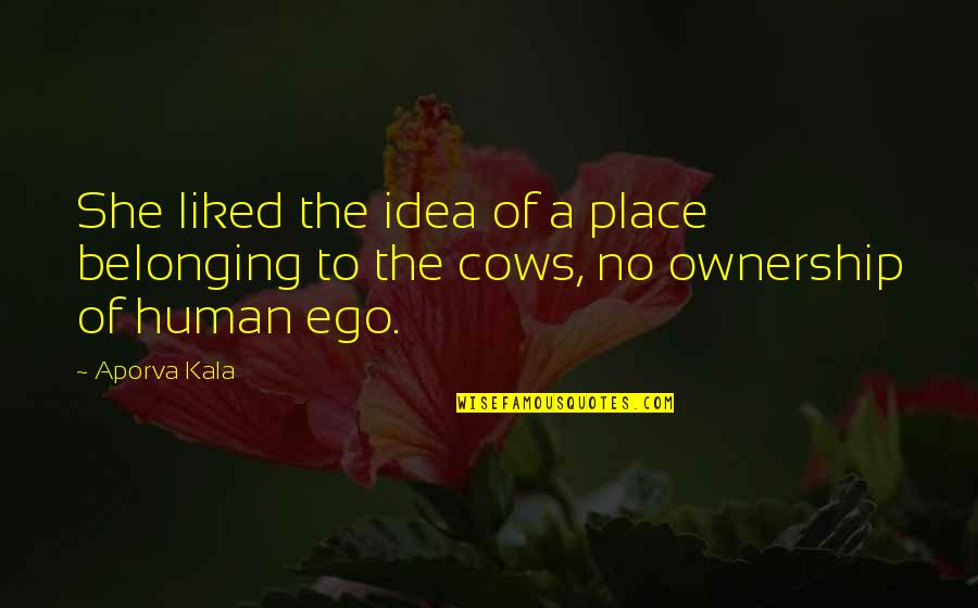 Belonging To The Earth Quotes By Aporva Kala: She liked the idea of a place belonging