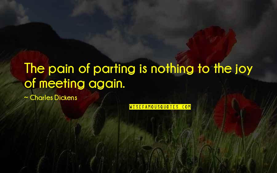 Belvedere's Quotes By Charles Dickens: The pain of parting is nothing to the