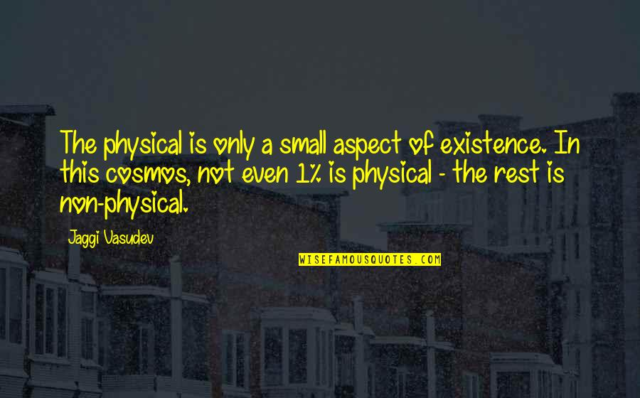 Belvedere's Quotes By Jaggi Vasudev: The physical is only a small aspect of