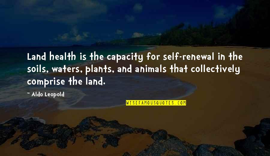 Ben Gazzara Quotes By Aldo Leopold: Land health is the capacity for self-renewal in