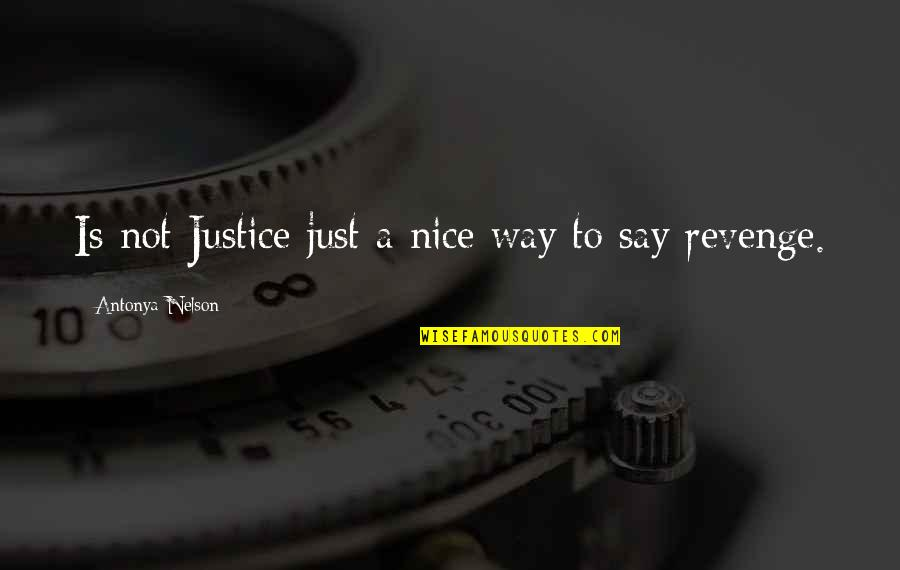 Ben Hunt Davis Quotes By Antonya Nelson: Is not Justice just a nice way to