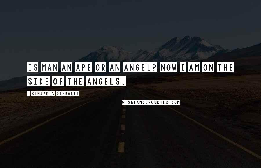 Benjamin Disraeli quotes: Is man an ape or an angel? Now I am on the side of the angels.