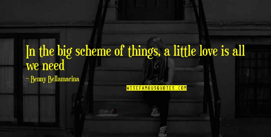 Benny Bellamacina Quotes By Benny Bellamacina: In the big scheme of things, a little