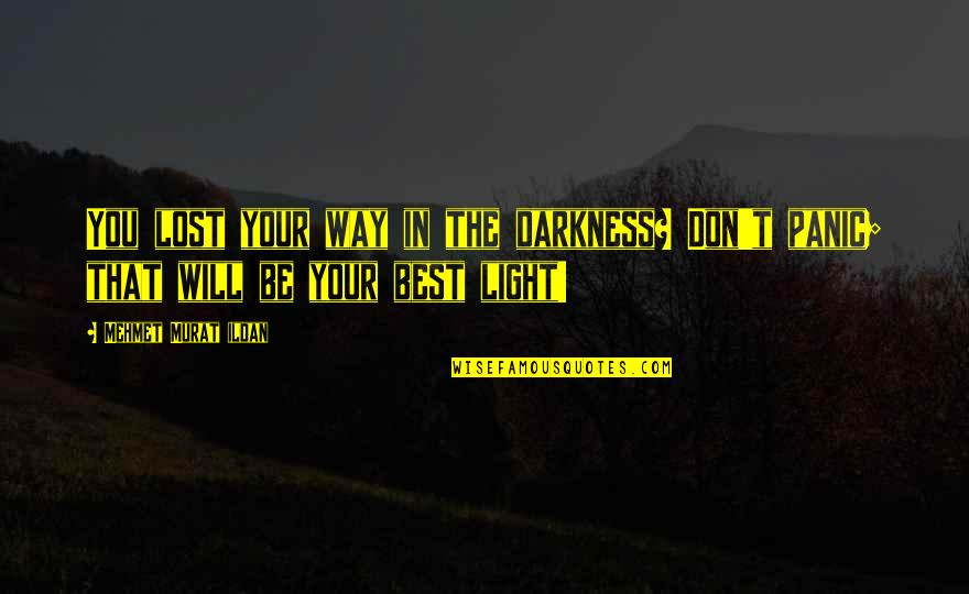 Benthos Quotes By Mehmet Murat Ildan: You lost your way in the darkness? Don't