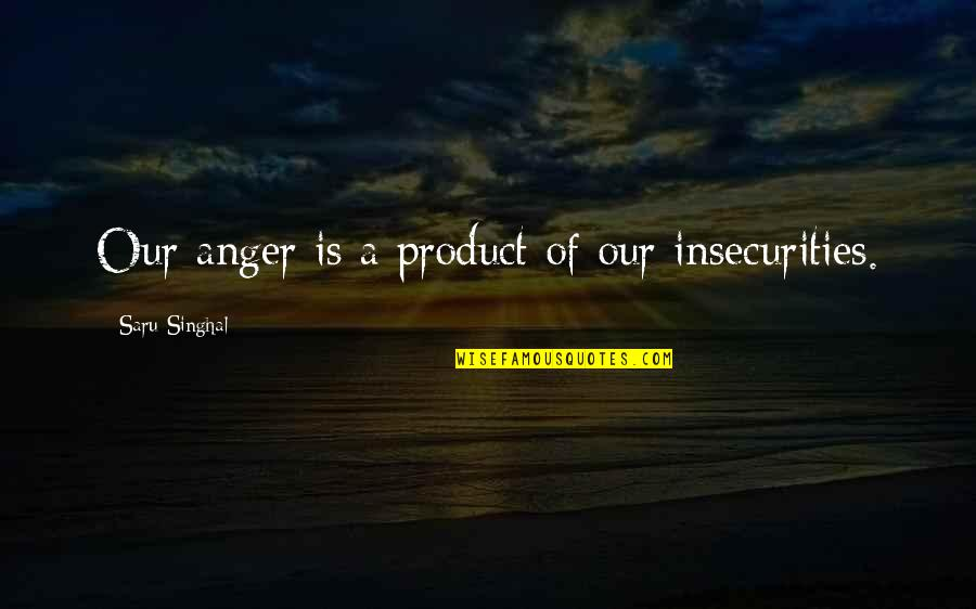 Bering Sea Gold Quotes By Saru Singhal: Our anger is a product of our insecurities.