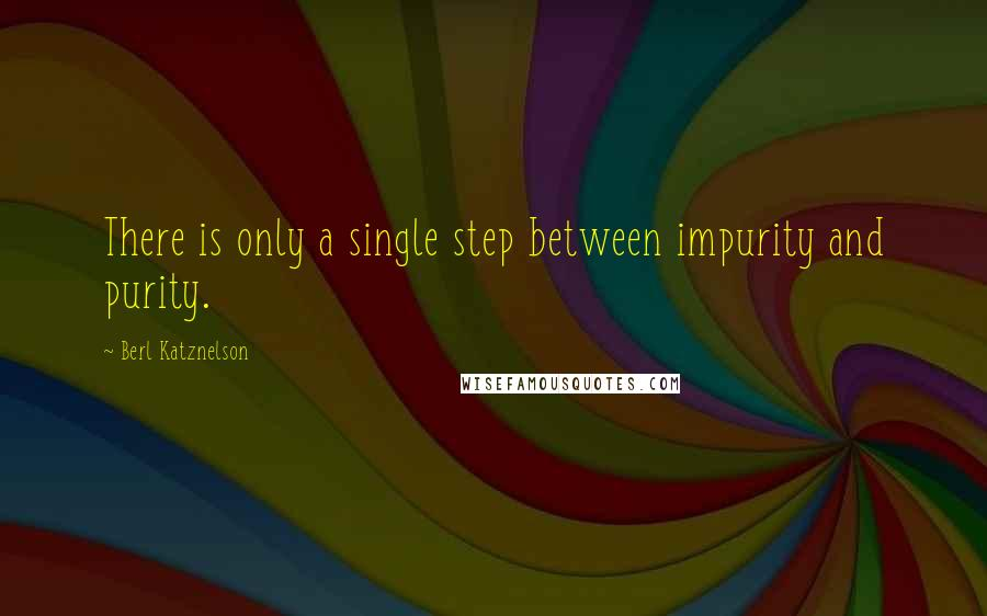 Berl Katznelson quotes: There is only a single step between impurity and purity.