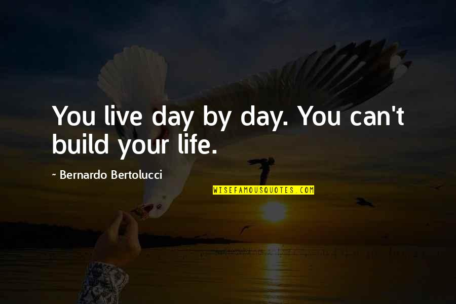 Bernardo Bertolucci Quotes By Bernardo Bertolucci: You live day by day. You can't build