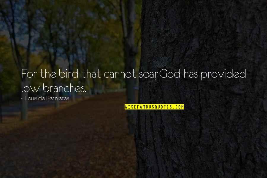 Bernieres Quotes By Louis De Bernieres: For the bird that cannot soar, God has