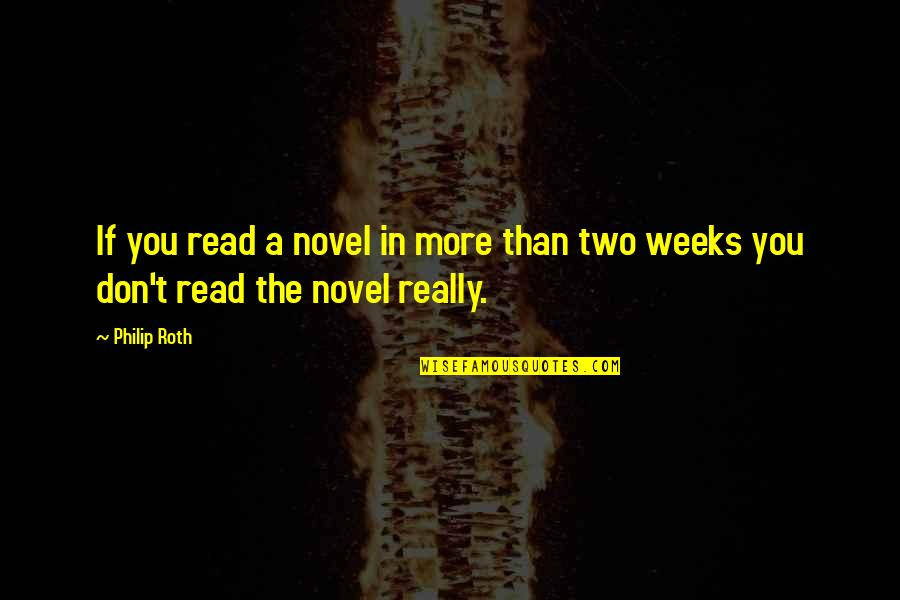 Beru Quotes By Philip Roth: If you read a novel in more than