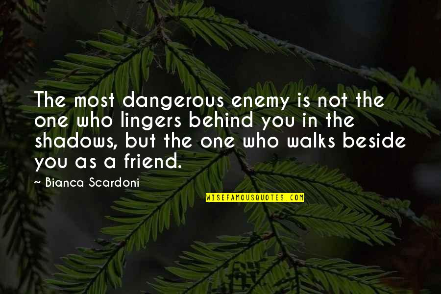 Beside You Quotes By Bianca Scardoni: The most dangerous enemy is not the one