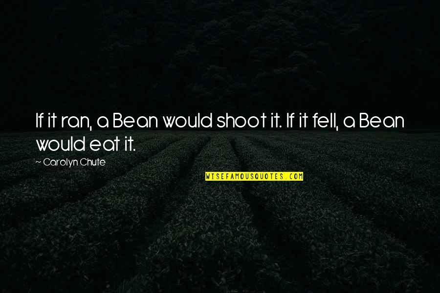 Best Appalachia Quotes By Carolyn Chute: If it ran, a Bean would shoot it.