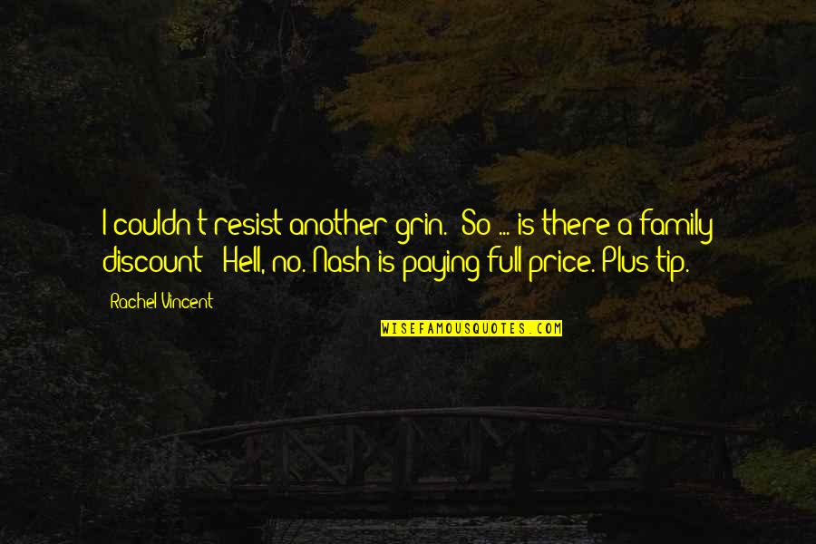 """Best Barney Stinson Love Quotes By Rachel Vincent: I couldn't resist another grin. """"So ... is"""