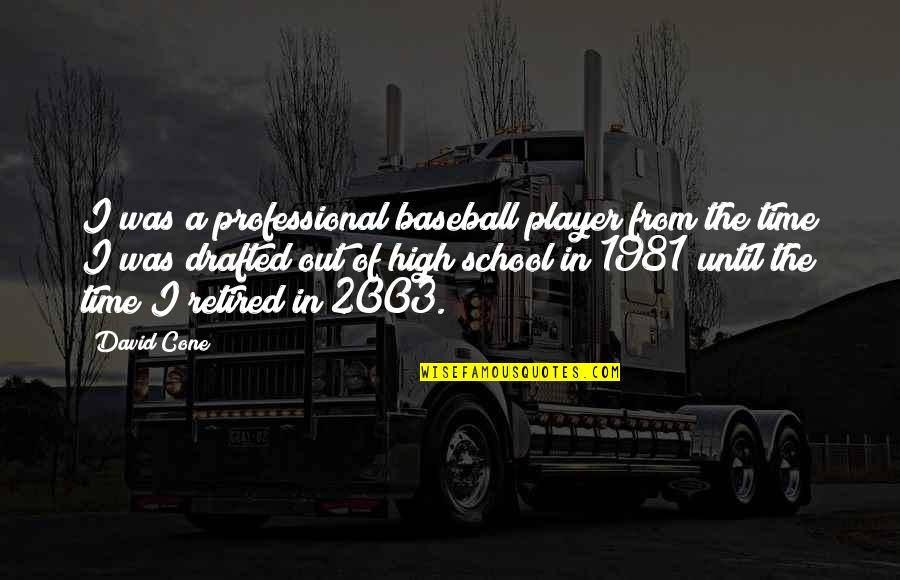 Best Baseball Player Quotes By David Cone: I was a professional baseball player from the