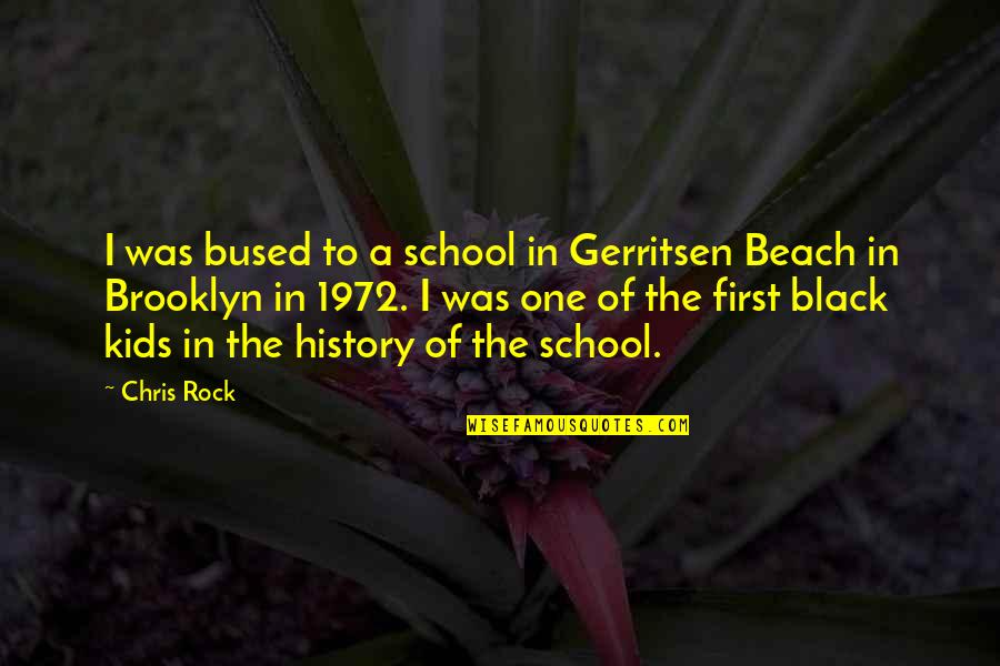 Best Black History Quotes By Chris Rock: I was bused to a school in Gerritsen