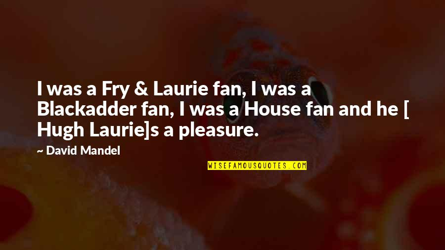 Best Blackadder Quotes By David Mandel: I was a Fry & Laurie fan, I