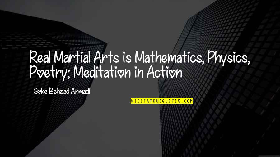 Best Buddha Wisdom Quotes By Soke Behzad Ahmadi: Real Martial Arts is Mathematics, Physics, Poetry; Meditation