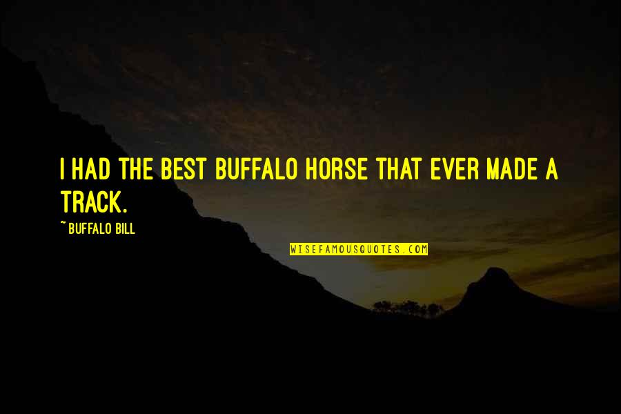 Best Buffalo Bill Quotes By Buffalo Bill: I had the best buffalo horse that ever