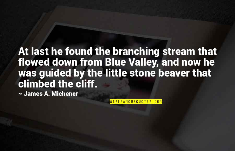Best Christmas And Happy New Year Quotes By James A. Michener: At last he found the branching stream that