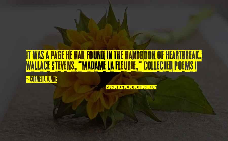 Best Collected Quotes By Cornelia Funke: It was a page he had Found in