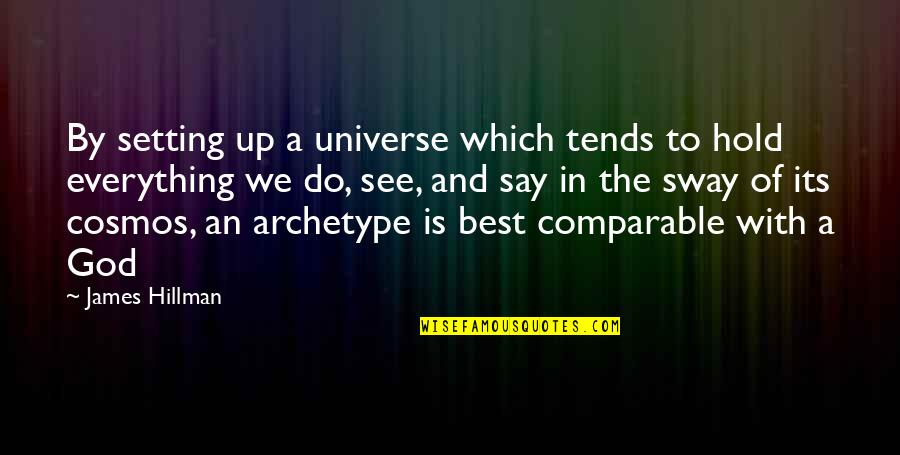Best Cosmos Quotes By James Hillman: By setting up a universe which tends to