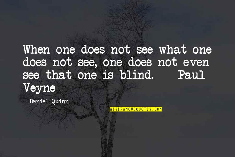 Best Coworker Quotes By Daniel Quinn: When one does not see what one does