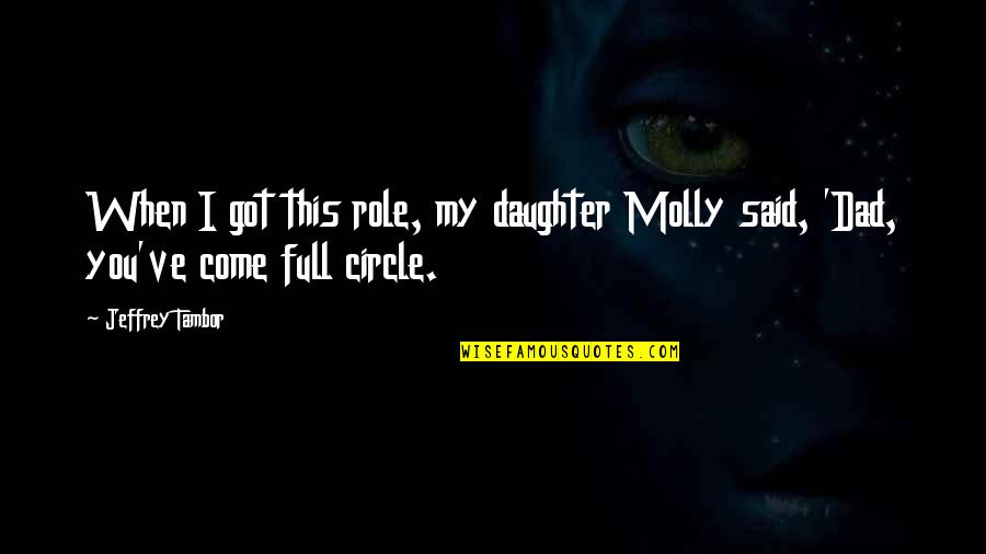 Best Dad From Daughter Quotes By Jeffrey Tambor: When I got this role, my daughter Molly