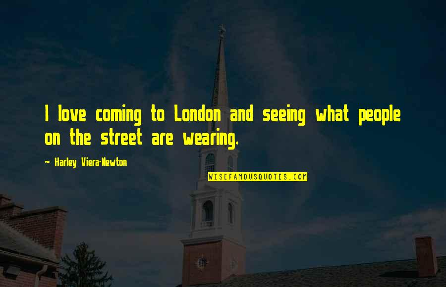 Best Friends Forever Tagalog Quotes By Harley Viera-Newton: I love coming to London and seeing what