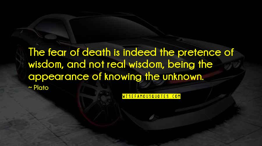 Best Goldman Sachs Elevator Quotes By Plato: The fear of death is indeed the pretence