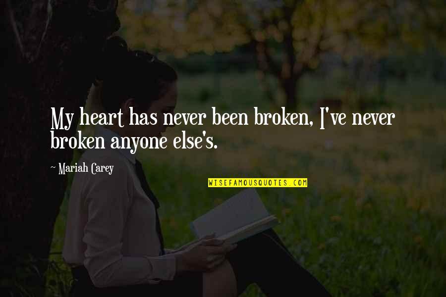 Best Heart Broken Quotes By Mariah Carey: My heart has never been broken, I've never