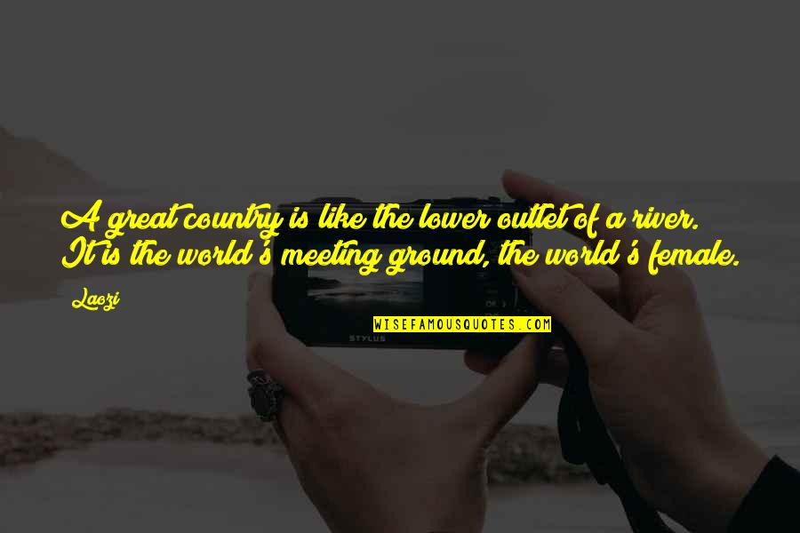 Best Hesher Quotes By Laozi: A great country is like the lower outlet