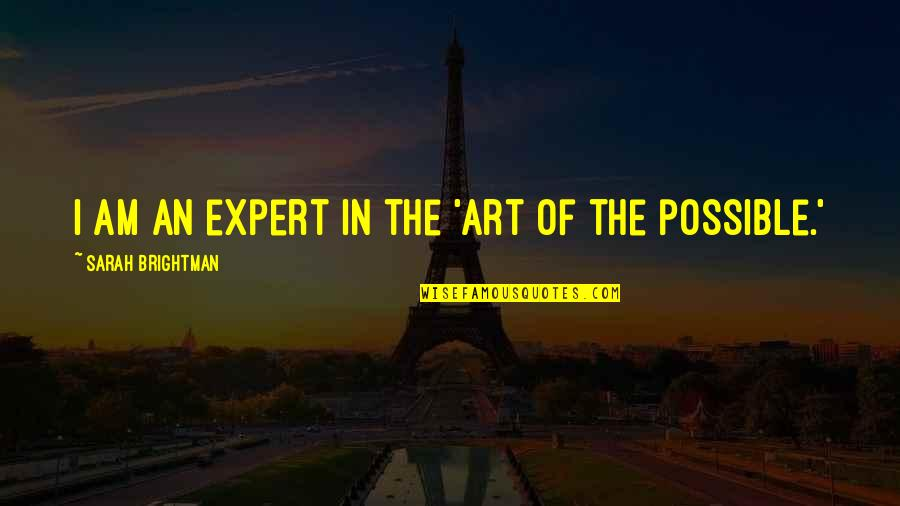 Best Homer Iliad Quotes By Sarah Brightman: I am an expert in the 'art of