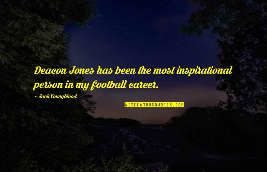 Best Inspirational Career Quotes By Jack Youngblood: Deacon Jones has been the most inspirational person