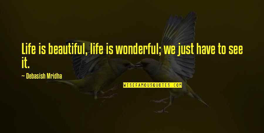Best Joe Pesci Quotes By Debasish Mridha: Life is beautiful, life is wonderful; we just
