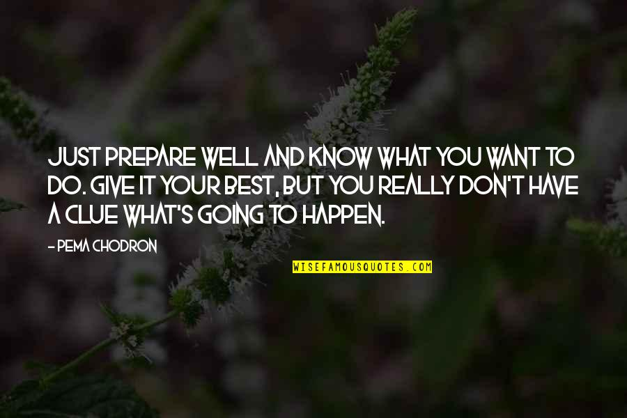 Best Just Do It Quotes By Pema Chodron: Just prepare well and know what you want