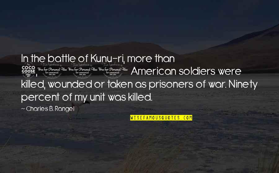 Best Kunu Quotes By Charles B. Rangel: In the battle of Kunu-ri, more than 5,000
