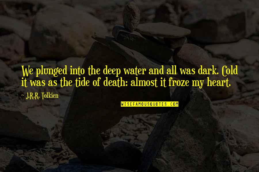Best Lord The Rings Quotes By J.R.R. Tolkien: We plunged into the deep water and all