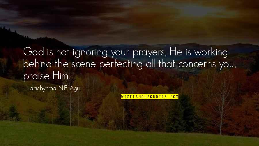 Best Love Scene Quotes By Jaachynma N.E. Agu: God is not ignoring your prayers, He is