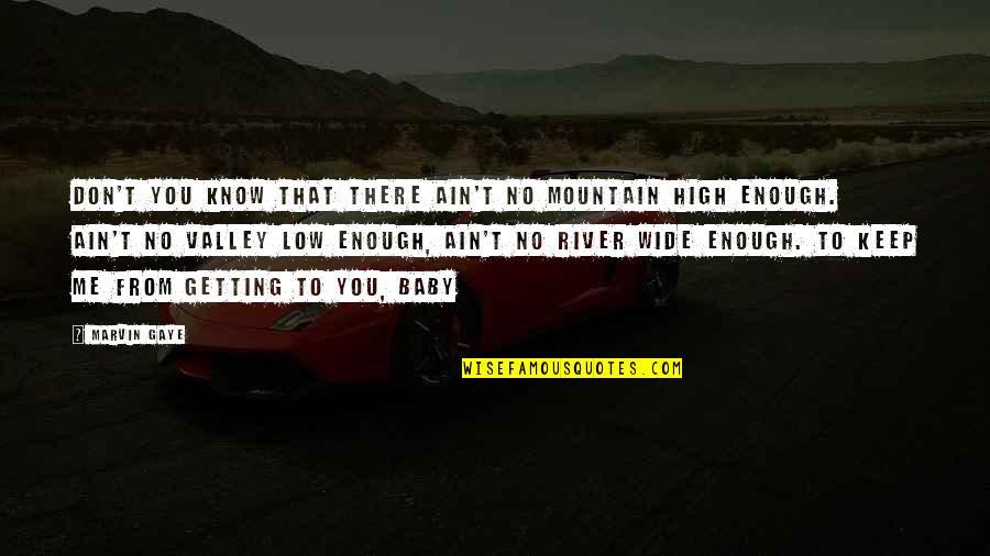 Best Marvin Gaye Quotes By Marvin Gaye: Don't you know that there ain't no mountain