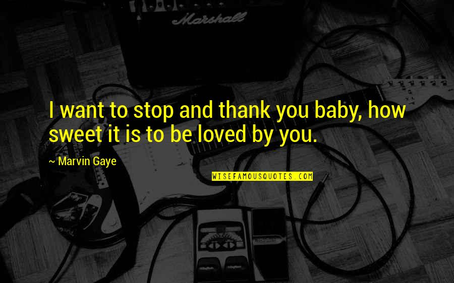 Best Marvin Gaye Quotes By Marvin Gaye: I want to stop and thank you baby,