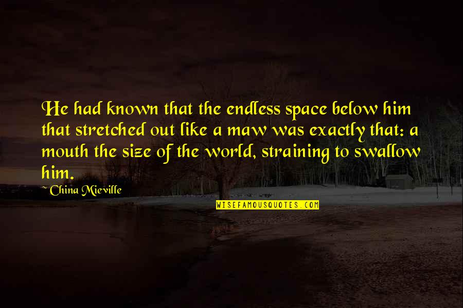 Best Maw Maw Quotes By China Mieville: He had known that the endless space below