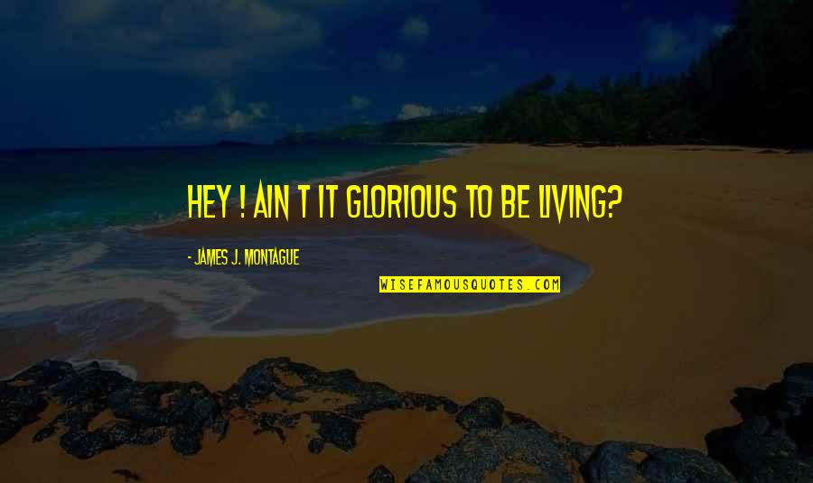 Best Montague Quotes By James J. Montague: Hey ! Ain t it glorious to be