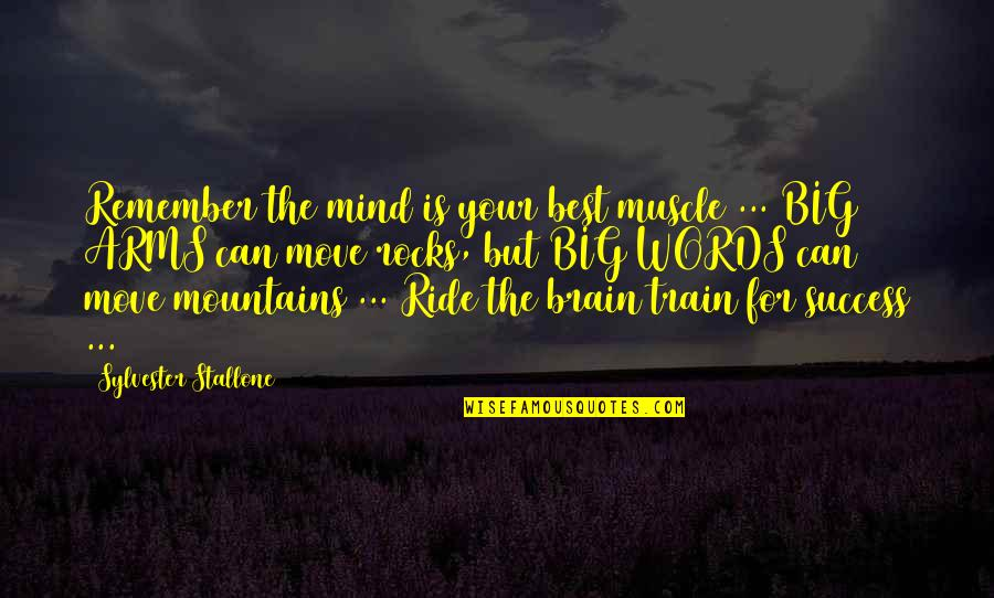 Best Muscle Quotes By Sylvester Stallone: Remember the mind is your best muscle ...